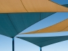 Perfectly tensioned shade sails...